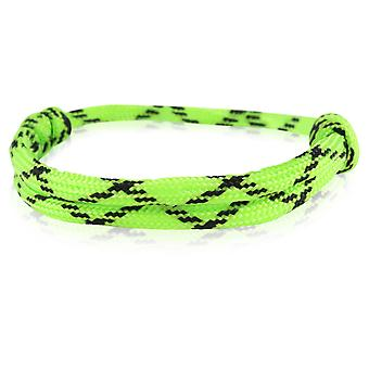 Le capitaine bracelet surfeur bande nœud maritimes bracelet en nylon vert / noir 6914