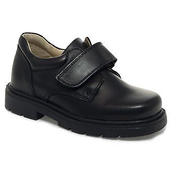 Petasil Boys Ollie School Shoes Black F Fitting