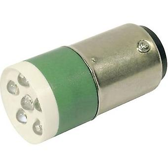 CML LED indicator light BA15D Green 24 V DC, 24 V AC 3150 mcd 18640046