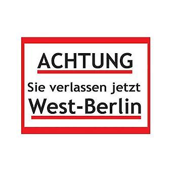 Achtung Vestberlin stål Køleskabsmagnet