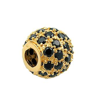 gold-plated bullet pendant with cubic zirconia pendant ball gold plated 3 Micron