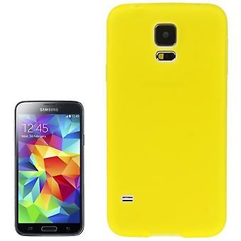 TPU case cover til Samsung Galaxy S5 / S5 neo transparent gul