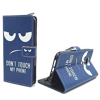 Älä koske minun puhelimen kännykkäkotelo Huawei G8 Flip kirjaimien lompakko