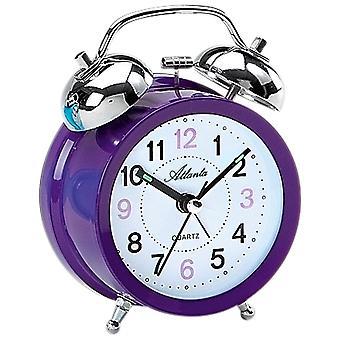 Atlanta 1743/8 alarm clock quartz Bell alarm clock twin Bell alarm clock purple violet