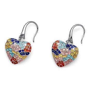 Oliver Weber Earring Gaudi Heart Rhodium