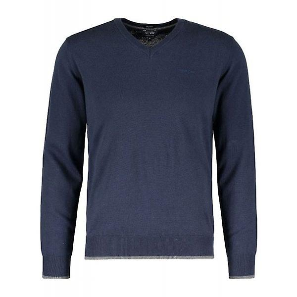Armani Jeans Jumper Mens Navy V-Neck 8N6M96
