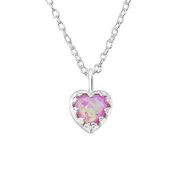 Corazón - plata de ley 925 Jewelled collares - W35131x