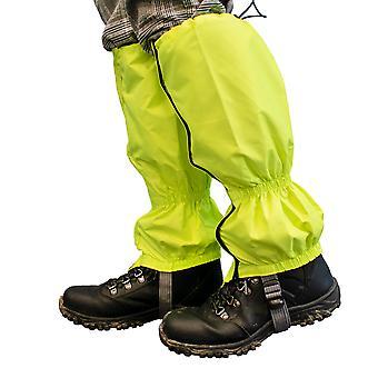 TRIXES, туризм гетры - высокий Vis флуоресцентных и воды доказательство - защита дождь ветер снег грязи и насекомых - один размер