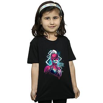 Marvel Kız Kaptan Marvel Neon Warrior T-Shirt