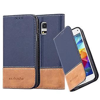 Cadorabo Case voor Samsung Galaxy S5 MINI/S5 MINI DUOS gevaldekking-telefoon geval met magnetische sluiting, stand functie en kaart compartiment-gevaldekking geval geval geval geval Case boek vouwen stijl