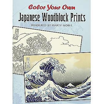 Kleur van uw eigen Japanse Woodblock afdrukken