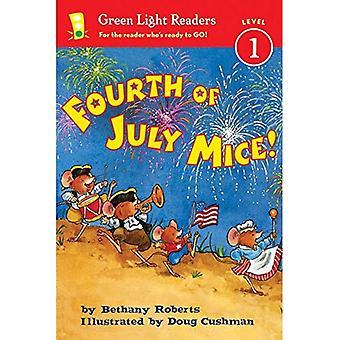 ¡Ratones de cuatro de julio! (Lectores de luz verde nivel 1)