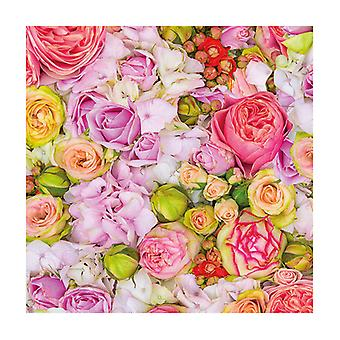 Ambiente 3 Ply Paper Lunch Napkins, Bed of Roses