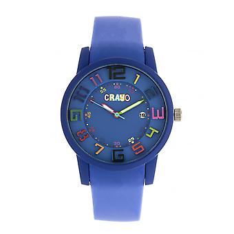 Crayo Festival Unisex Watch w/ Date - Purple