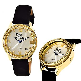 Sophie & Freda Los Angeles Swiss mens Watch - Gold/White