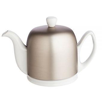 Guy Degrenne Salam 4 tasse blanc théière avec couverture Zinc