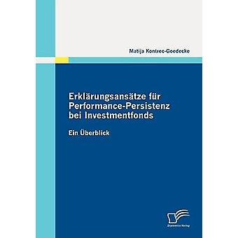 Erkl Rungsans fourrure Tze PerformancePersistenz Bei Investmentfonds par KontrecGoedecke & Matija
