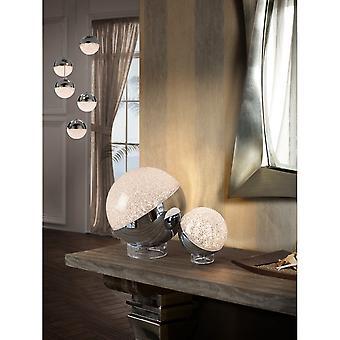 Schuller Sphere Modern Bedside Table Lamp, 20cm, Chrome