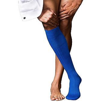 ファルケ No2 最高級膝高いカシミヤ ソックス - オリンピック ブルー