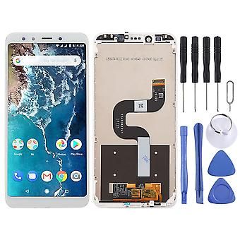 For Xiaomi mi a2/mi 6X display fuld LCD-enhed touch med frame reservedel reparation hvid ny