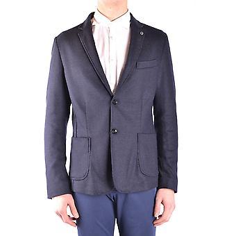 Massimo Rebecchi Ezbc214017 Men's Black Wool Blazer