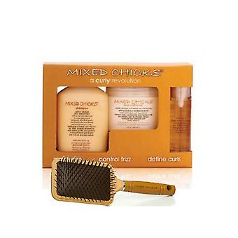 Mixed Chicks Quad Pack & Paddle Brush