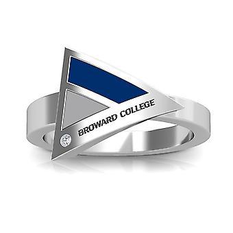 Broward College diamant ring i sterling sølv design af BIXLER