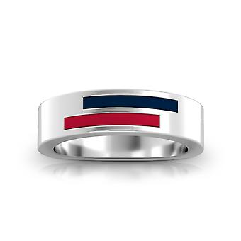 Minnesota Twins Sterling Silver Asymmetric Enamel Ring In Blue and Red