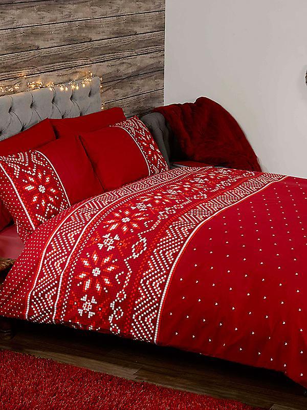 Nordic Christmas Duvet Cover and Pillowcase Set