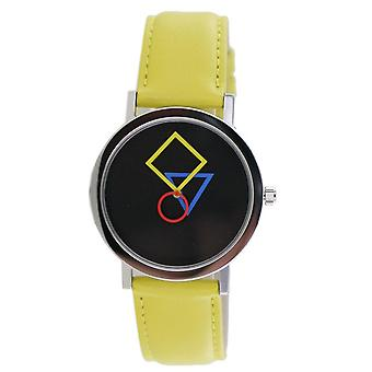 Aristo Bauhaus ladies watch stainless steel 4D86G leather yellow