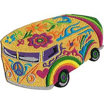 Patch - Automoblies - Psychedelic Bus Iron On Gifts New Licensed p-4058