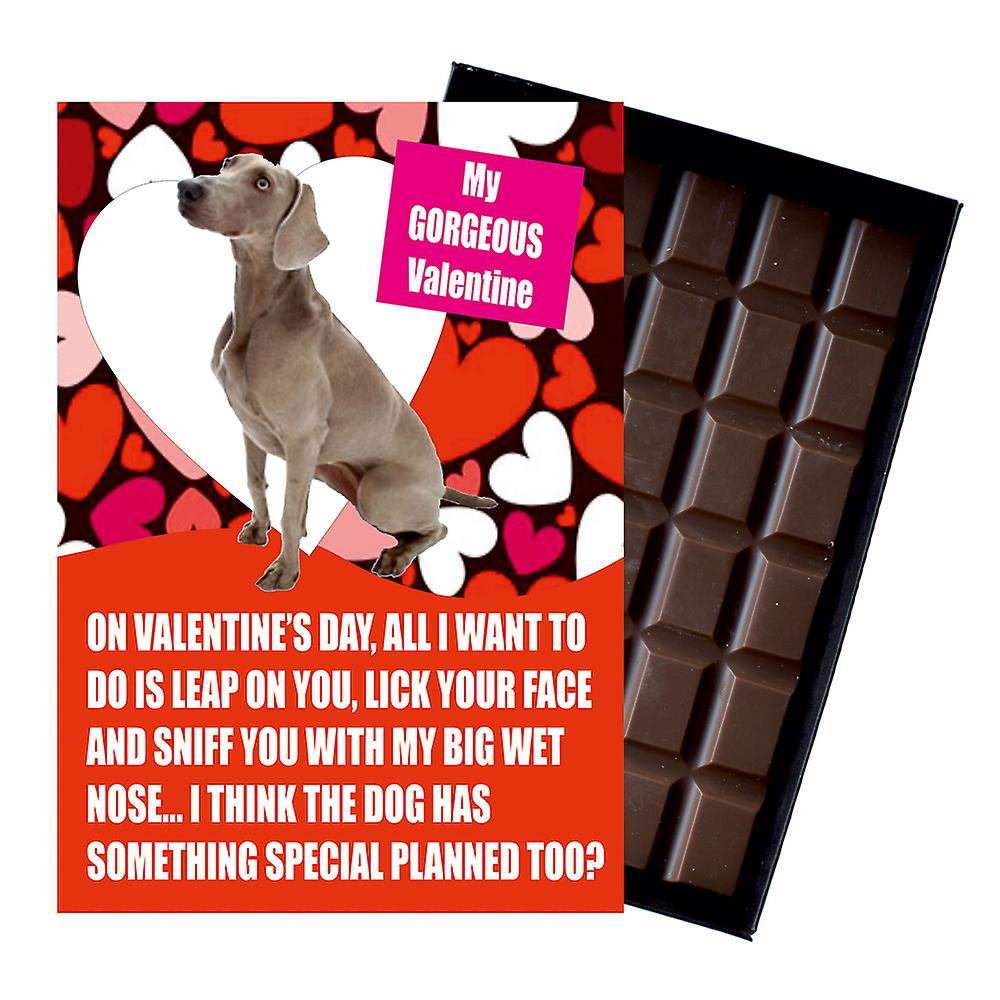 Weimarana Gift for Valentines Day Presents For Dog Lovers Boxed Chocolate