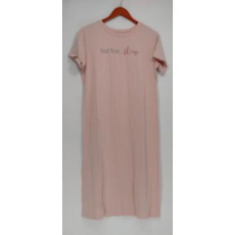 Anybody Women's Sleepshirt Loungewear Cozy Knit Message Pink A302307