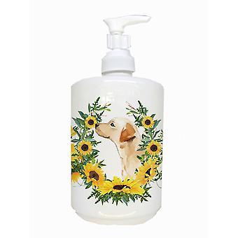 Carolines Treasures  CK2935SOAP Yellow Labrador #2 Ceramic Soap Dispenser