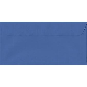 Royal Blue Peel/Seal DL+ Coloured Blue Envelopes. 100gsm Swiss Premium FSC Paper. 114mm x 224mm. Wallet Style Envelope.