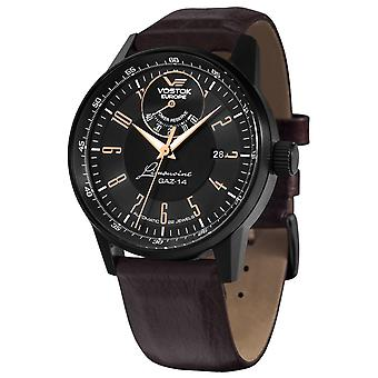 Vostok europe gaz 14 Automatic Analog Ousmen Watch with YN85-560C520 Cowskin Bracelet
