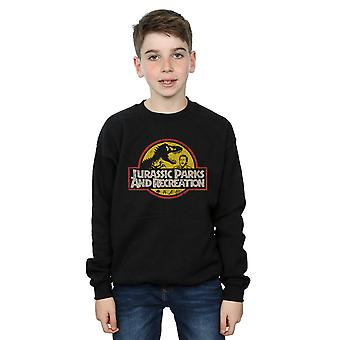 Funtimes pojkar Jurassic Parks & REC Sweatshirt