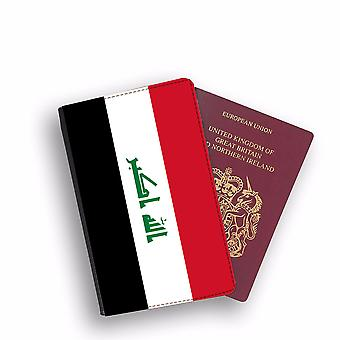 IRAQ Flag Passport Holder Style Case Cover Protective Wallet Flags design