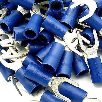100 x Conectores de Terminales de Pica de Crimpado de Cable Azul