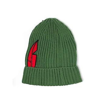 Peter Pan Beanie Hat feather Logo new novelty Official Disney Green
