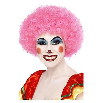 Volwassenen roze gekke Clown pruik Fancy Dress accessoire