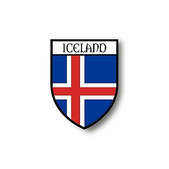 ملصقا ملصقا دراجة نارية سيارة بلاسون مدينة العلم أيسلندا أيسلندا