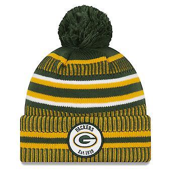 New Era Green Bay Packers Onfield Home Bobble Sombrero en Color Oficial del Equipo