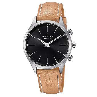Kronaby S3123-1 Men's Sekel Smartwatch Black Dial