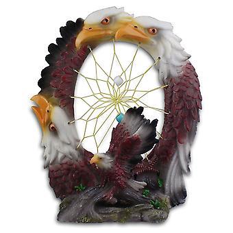Cherokee River Native American Eagles Dreamcatcher Plaque