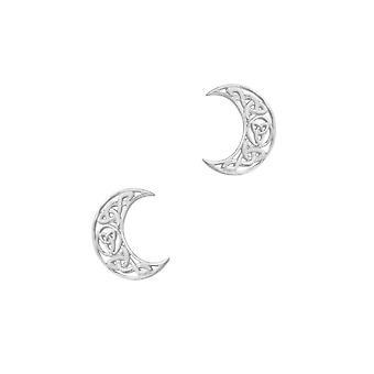Keltische Heilige Dreifaltigkeit Knoten Halbmond geformt Ohrstecker paar Ohrringe