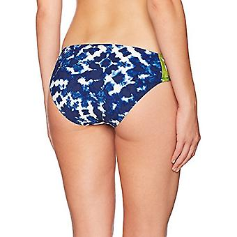 La Blanca Women's Side Shirred Hipster Bikini Swimsuit Bottom, Navy/White/Gre...