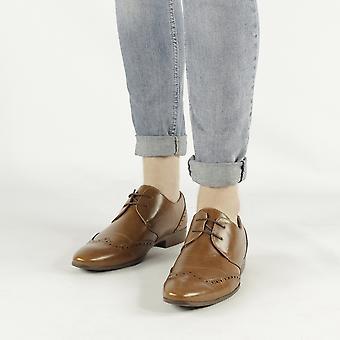 Shumo Hendrix Mens Smart Derby Shoes Tan