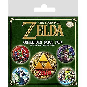 Il set di distintivi la leggenda di zelda classici - Merchandise da gioco