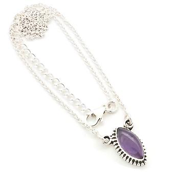 Amethyst Necklace 925 Silver Sterling Silver Necklace Necklace Purple (MCO 11-01)